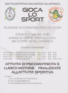 corsi di psicomotricità per bambini di 4 e 5 anni a Villafranca di Verona, presso la Polisportiva San Giorgio