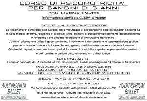 corso di psicomotricità per bambini di 3 anni a Villafranca di Verona