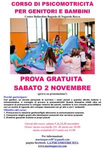 corso di psicomotricità genitori/bambini Marina Pavesi psicomotricista